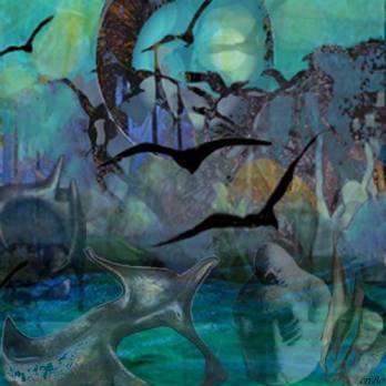 assemblaggio miei dipinti e sculture