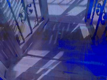 cancello blu - by criBo