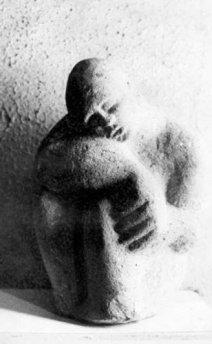 scultura in peperino romano h 120