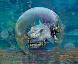 pesce luna nella bolla - by criBo
