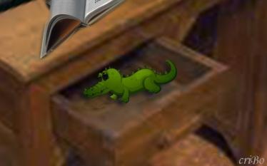 coccodrillo nel cassetto